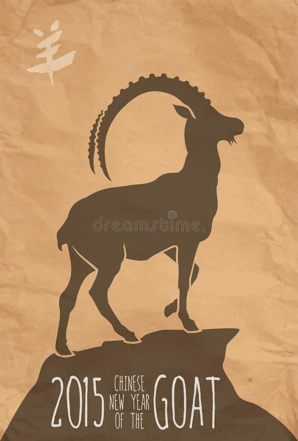 Ano novo chinês do cartaz 2015 da cabra