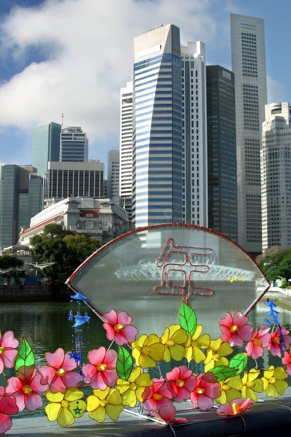 Ano novo chinês em Singapore foto de stock royalty free