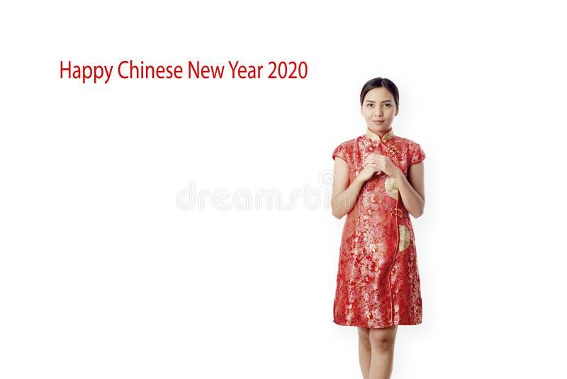 ano novo chinês feliz da mulher asiática foto de stock royalty free