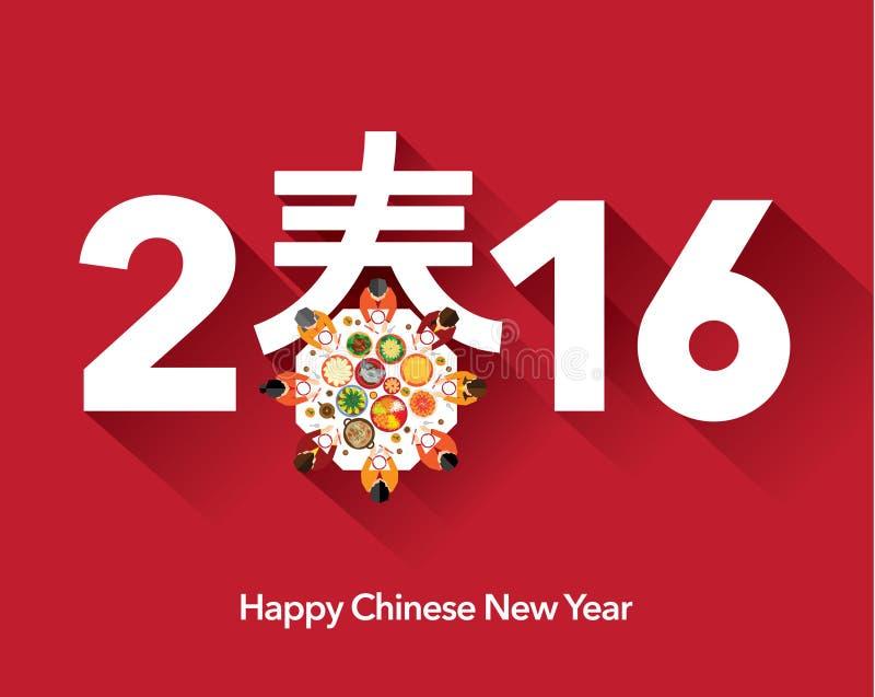 Ano novo chinês feliz oriental 2016