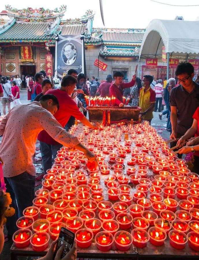Ano novo chinês perto de Yaowarat imagens de stock royalty free