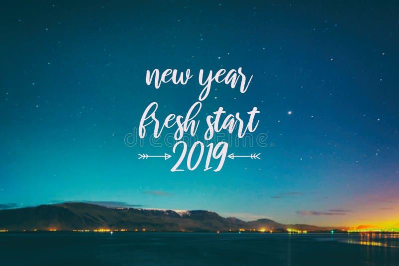 Ano novo, novo começo 2019 foto de stock royalty free