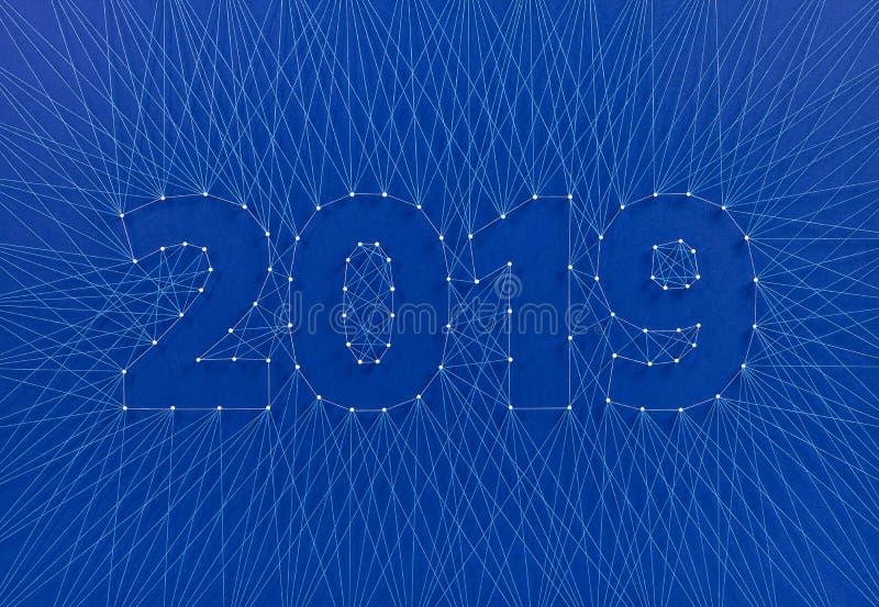Ano novo 2019 - construindo o futuro junto, em equipe imagem de stock royalty free