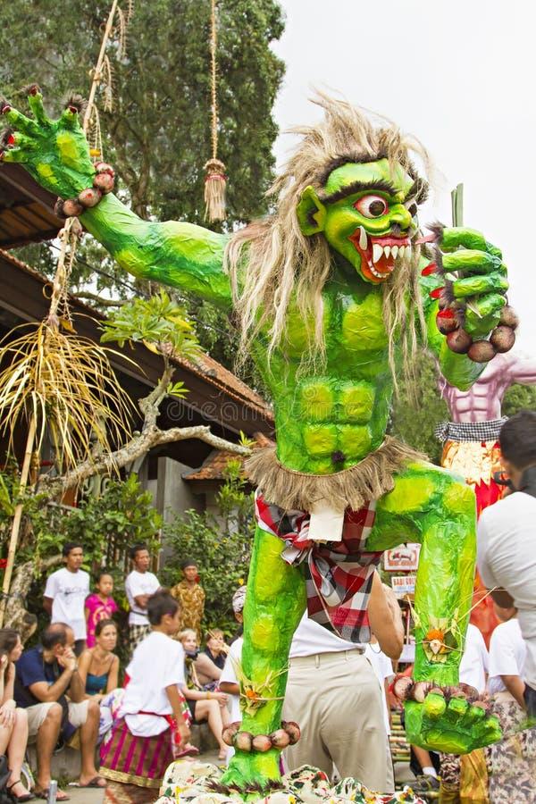 Ano novo do Balinese foto de stock