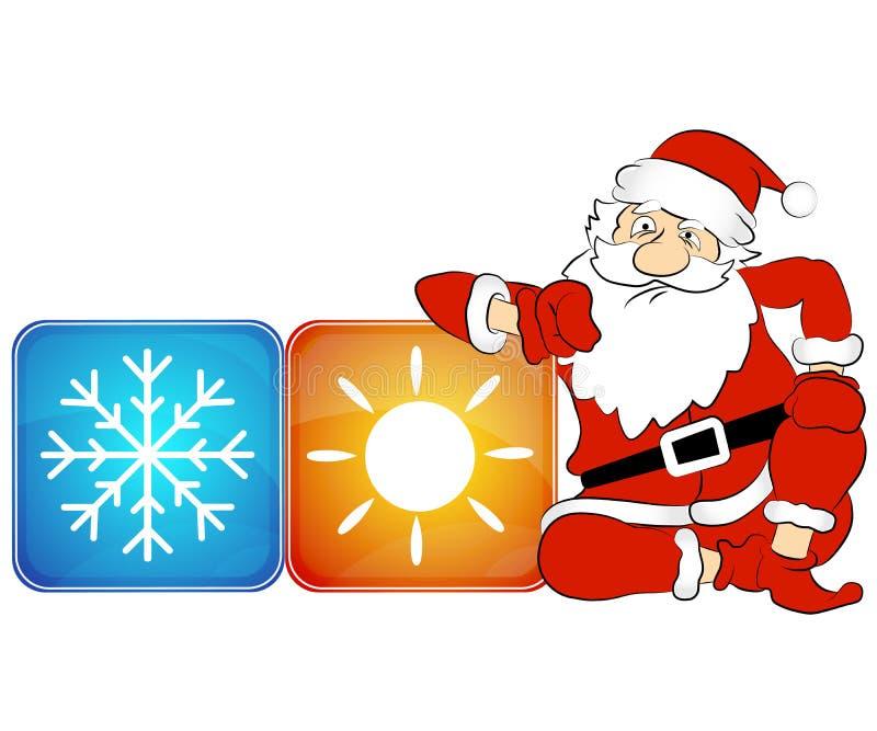 Ano novo do condicionamento de ar ilustração royalty free