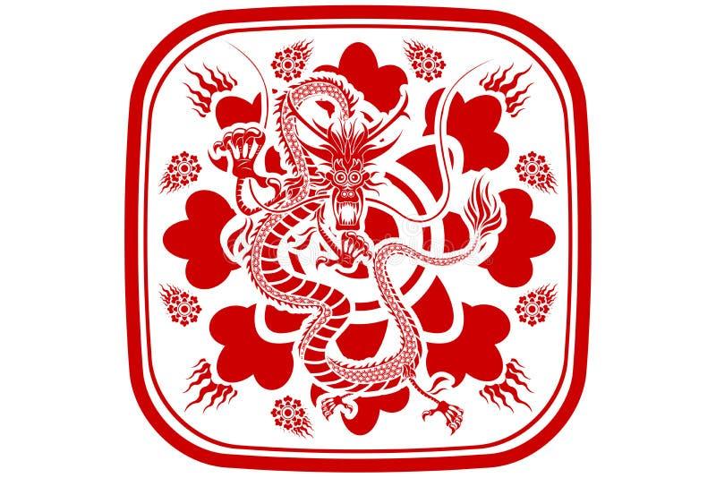 Ano novo do dragão chinês ilustração do vetor