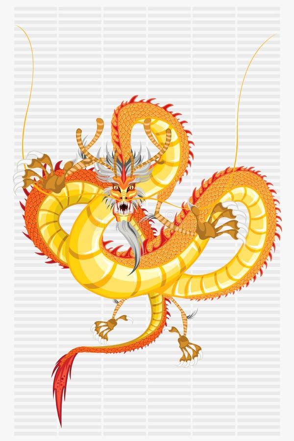 Ano novo do dragão chinês ilustração royalty free