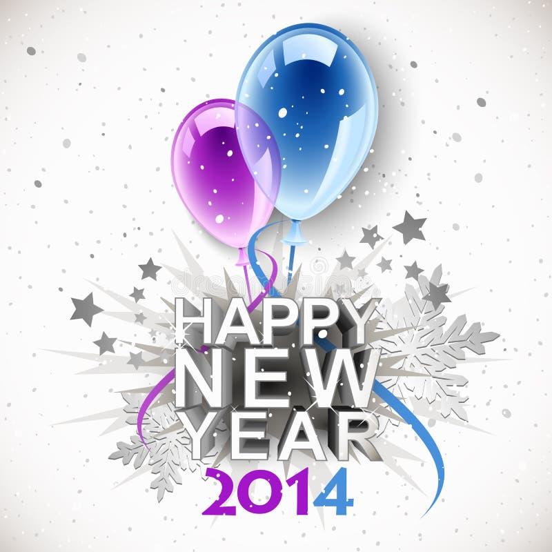 Ano novo 2014 do vintage ilustração do vetor