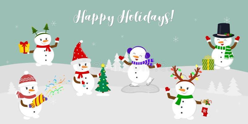 Ano novo e cartão de Natal   ilustração stock