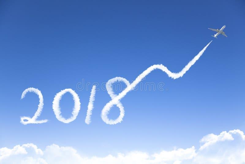 Ano novo 2018 e conceito do crescimento do negócio foto de stock royalty free