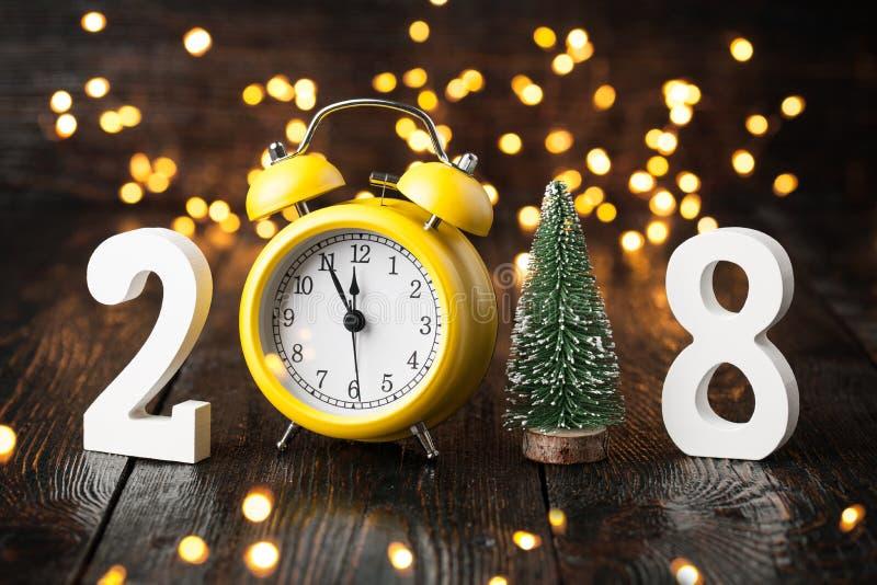 Ano novo feliz 2018 fotografia de stock royalty free