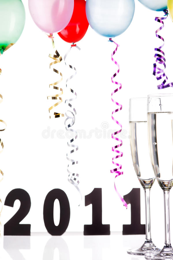 Download Ano novo feliz foto de stock. Imagem de isolado, d0, champanhe - 16868862