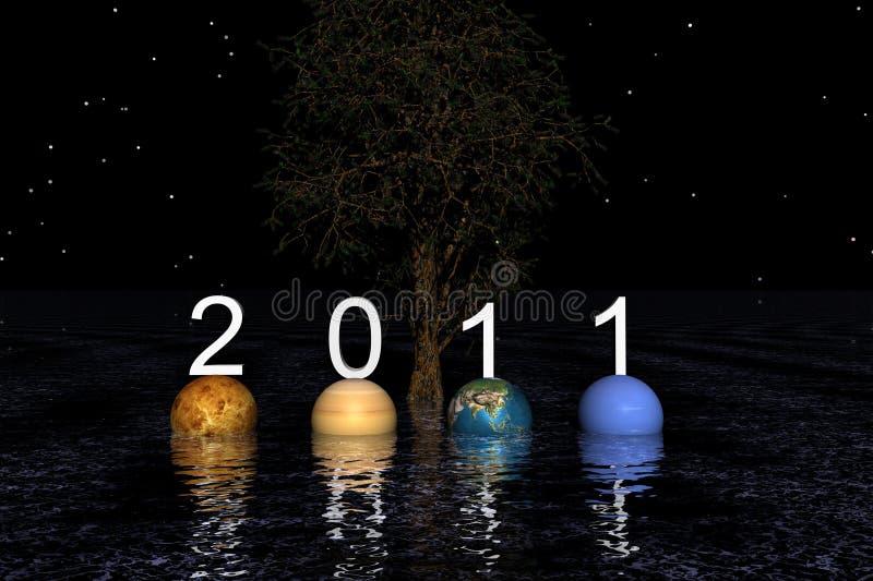 Download Ano novo feliz ilustração stock. Ilustração de planetas - 16870378