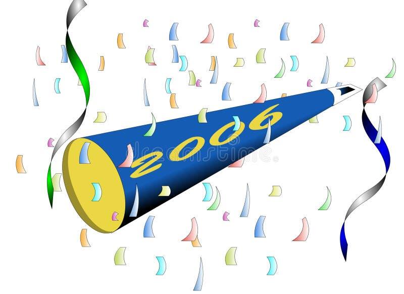 Ano novo feliz - 2006 ilustração stock