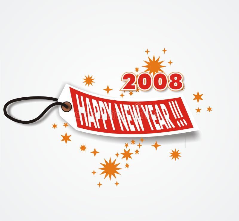 Ano novo feliz 2008 ilustração stock