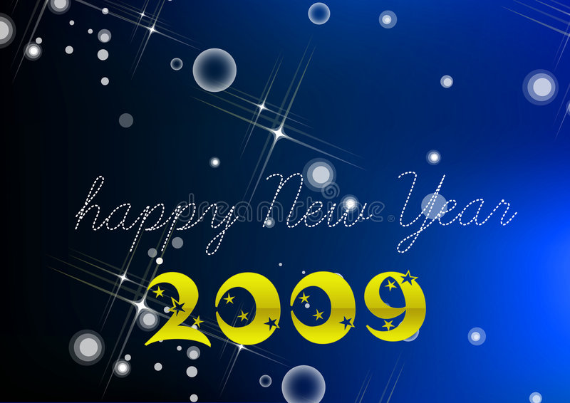 Ano novo feliz 2009 ilustração royalty free