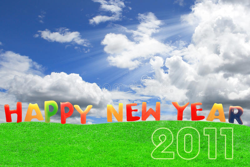 Ano novo feliz 2011 foto de stock royalty free