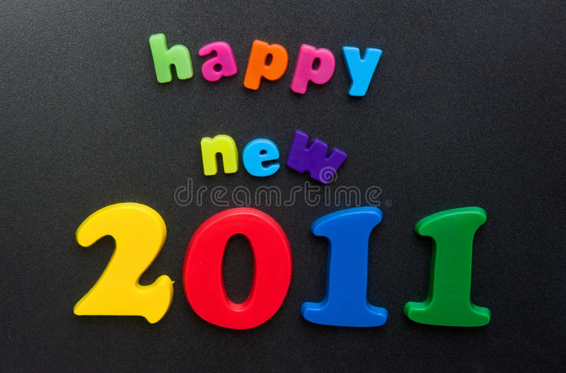 Ano novo feliz 2011. fotografia de stock