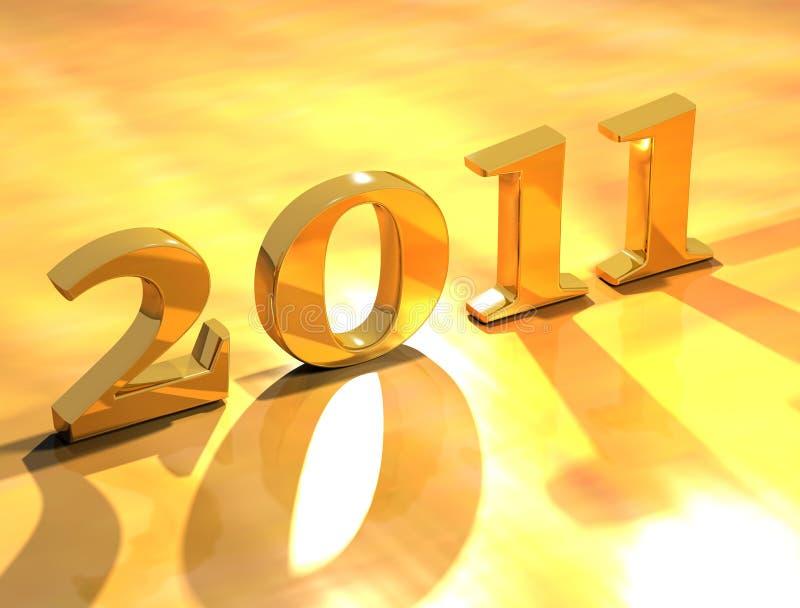 Ano novo feliz 2011 ilustração royalty free