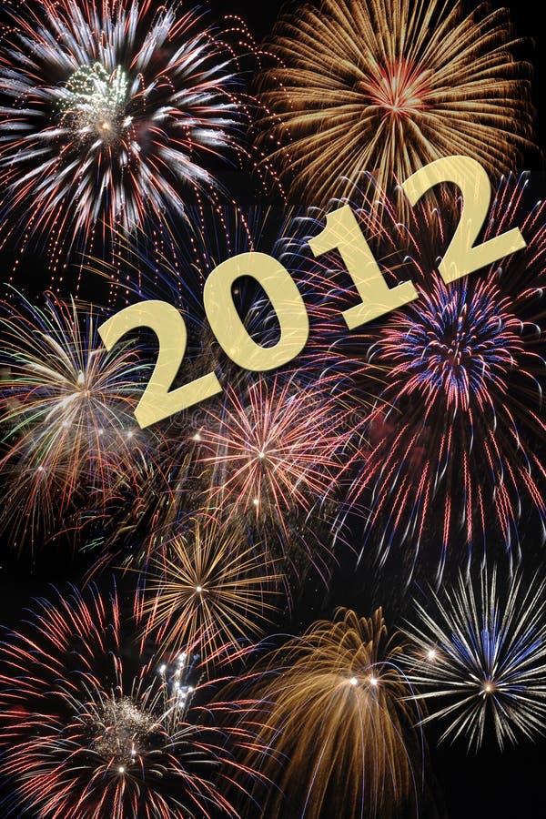 Ano novo feliz 2012 ilustração do vetor