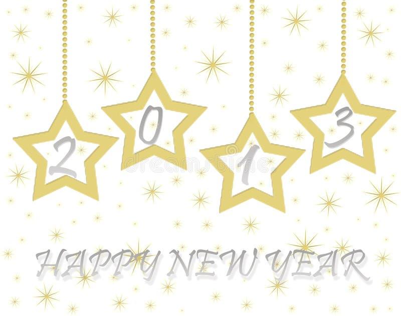 Ano novo feliz 2013 ilustração stock