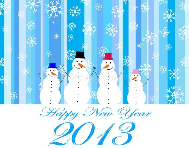 Ano novo feliz 2013 ilustração royalty free