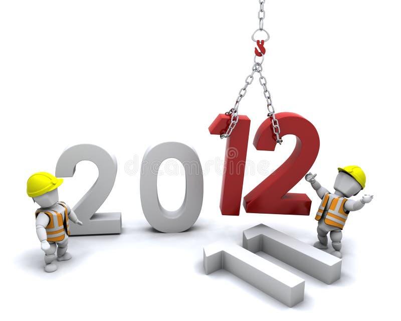 Ano novo feliz! ilustração royalty free