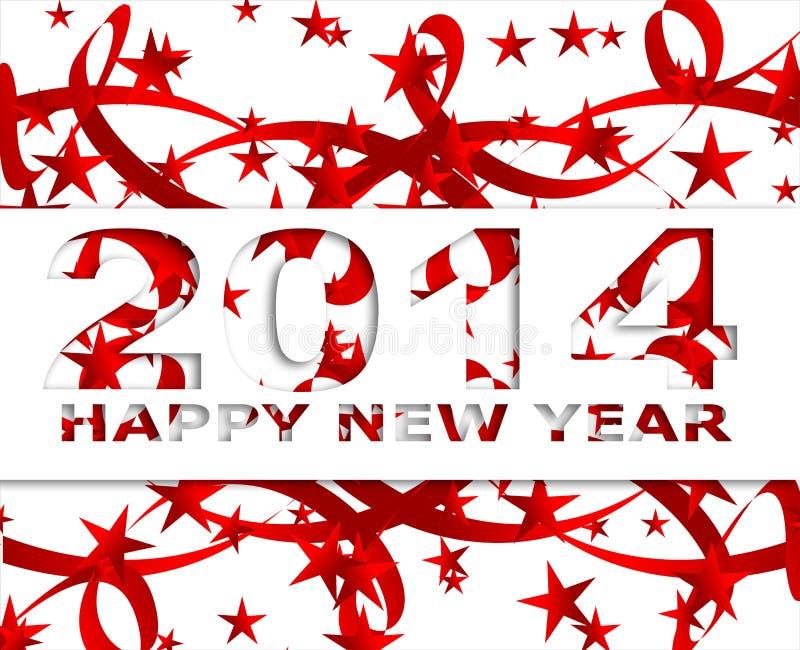 Ano novo feliz 2014 ilustração royalty free