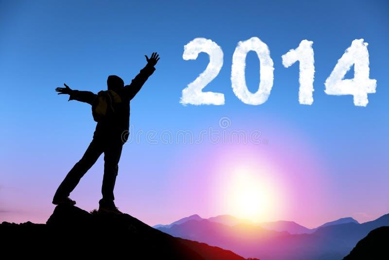 Ano novo feliz 2014 imagens de stock royalty free