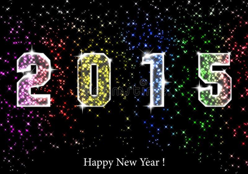 Ano novo feliz 2015 ilustração do vetor