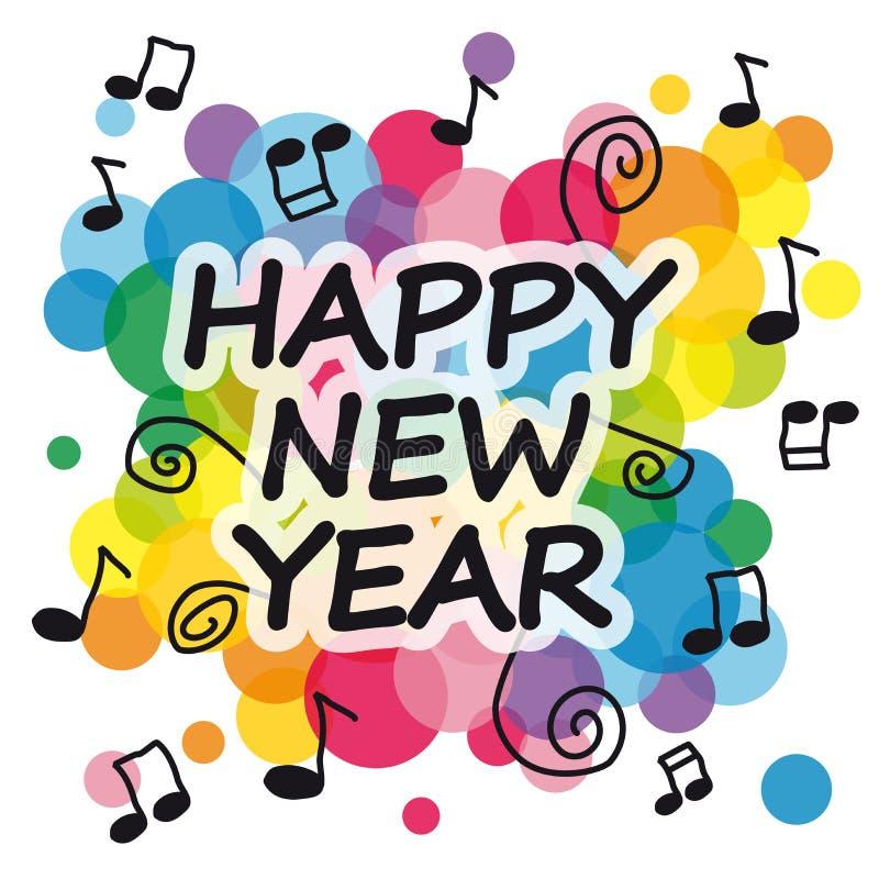 Ano novo feliz ilustração stock