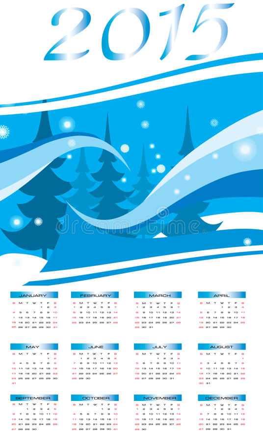 Ano novo feliz - 2015 fotos de stock