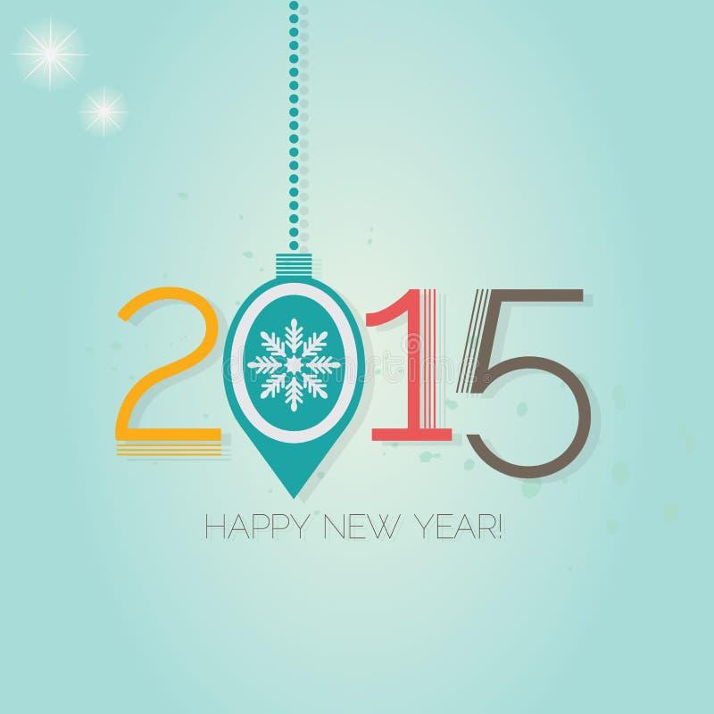 Ano novo feliz 2015 ilustração stock