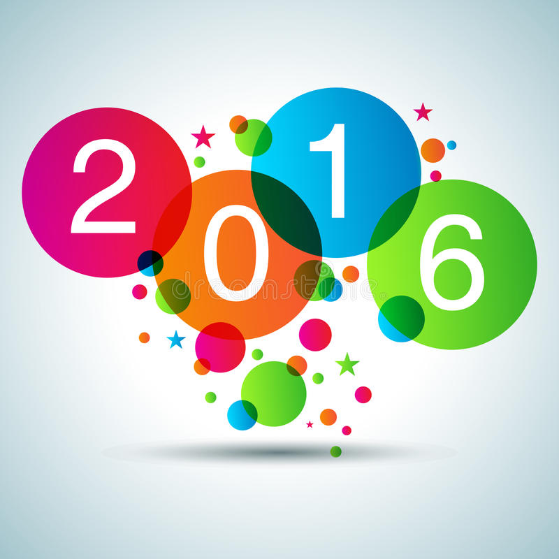 Ano novo feliz 2016 ilustração royalty free