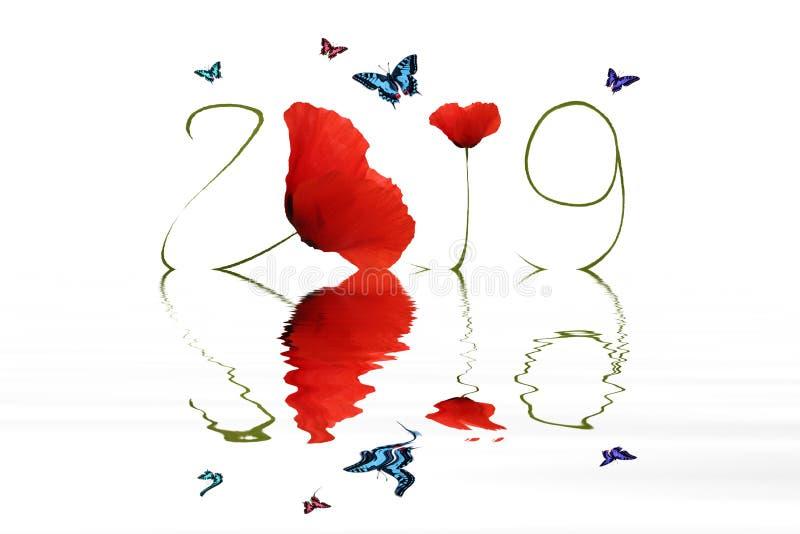 Ano novo feliz 2019 imagem de stock