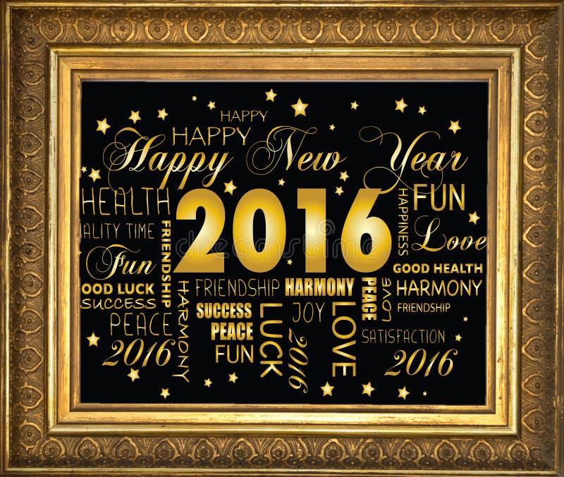 Ano novo feliz 2016 - imagens de stock royalty free