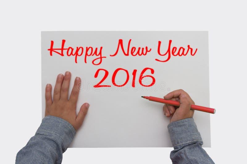 Ano novo feliz 2016 - foto de stock