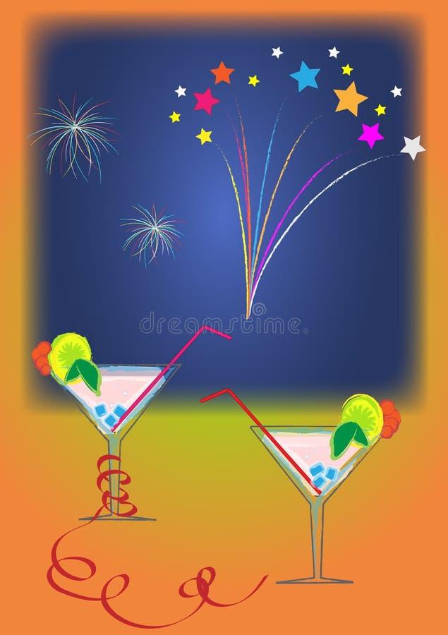 Ano novo feliz ilustração royalty free