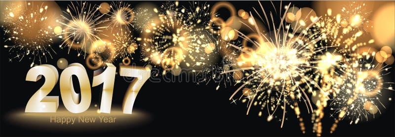 Ano novo feliz 2017 ilustração do vetor