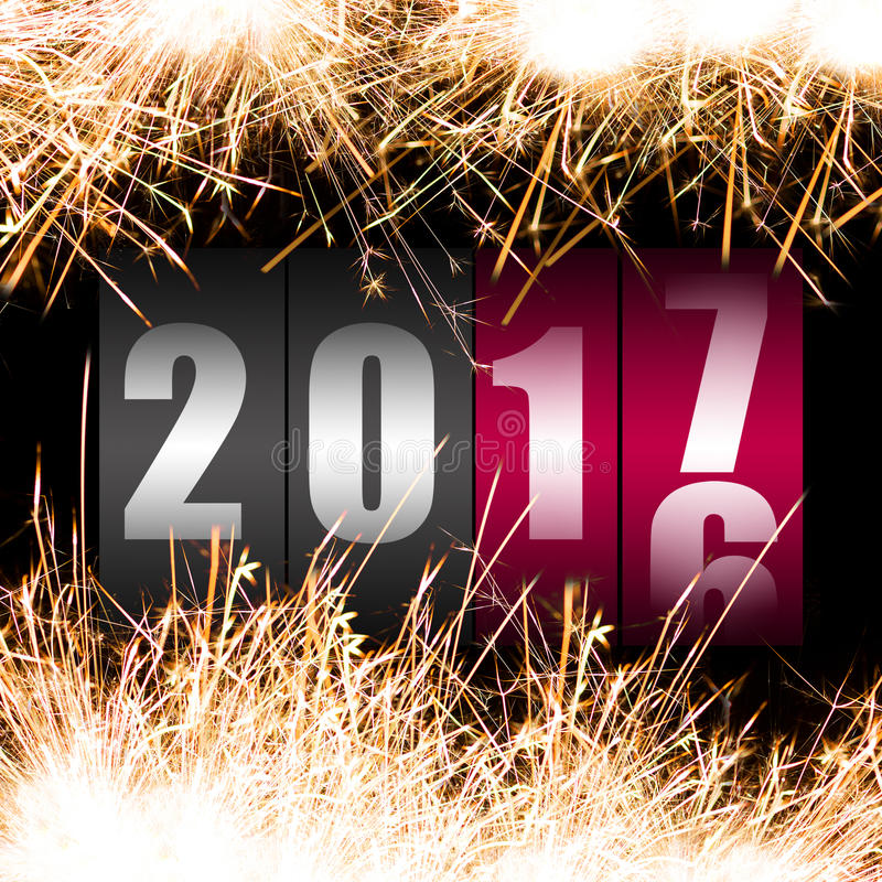 Ano novo feliz 2017 ilustração royalty free