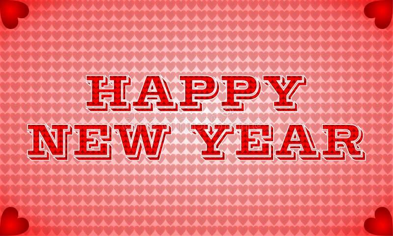 Ano novo feliz com teste padrão do amor imagem de stock royalty free