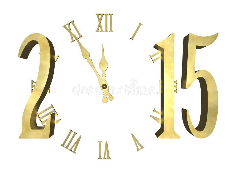 Ano novo feliz 2015 - conceito ilustração stock