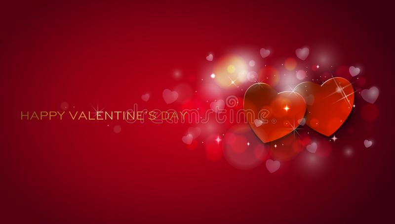 ano novo feliz 2007 Corações shinning felizes do dia de Valentim ilustração royalty free
