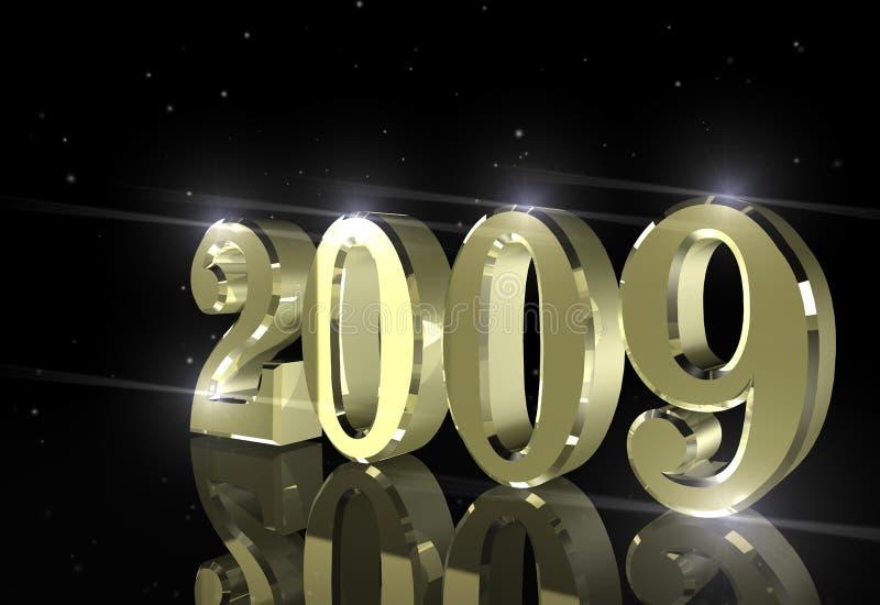 Ano novo feliz da celebração ilustração stock