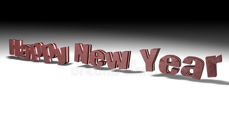 Ano Novo Feliz Do Chocolate Fotografia de Stock