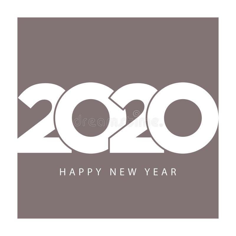 Ano novo feliz do molde 2020 elegantes do calendário do negócio ilustração stock