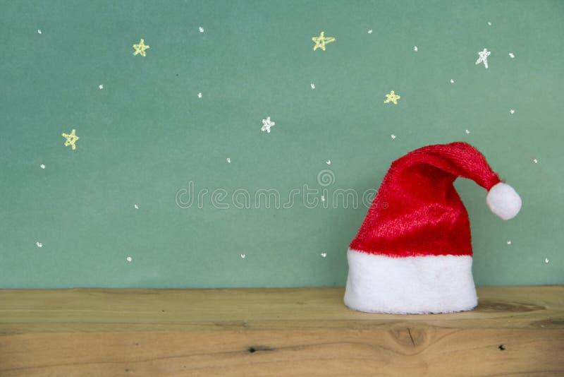 Ano novo feliz do Feliz Natal Chapéu vermelho de Santa imagem de stock royalty free