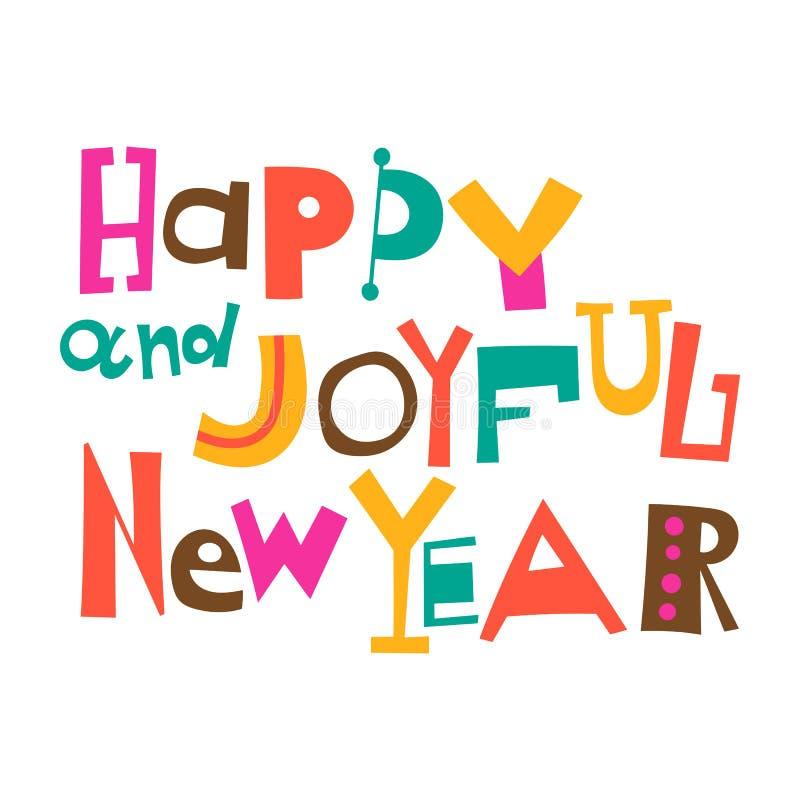 Ano novo feliz e alegre ilustração royalty free