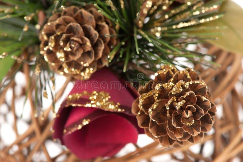 Ano novo feliz e Feliz Natal fotografia de stock royalty free