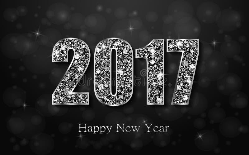 Ano novo feliz 2017 Fundo do vetor ilustração do vetor